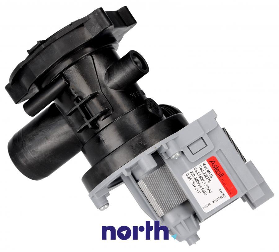 Pompa odpływowa kompletna (silnik + obudowa) do pralki Indesit 482000022995,1
