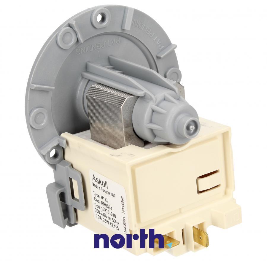 Silnik pompy odpływowej do pralki Electrolux M113 1468818008,1