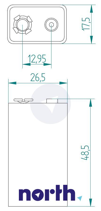 Bateria alkaliczna 9V VARTA (1szt.),1